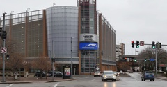 Establishing Shot Greyhound Bus Terminal in Pittsburgh Stock Footage