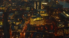 Aerial shot of West and central London Stock Footage
