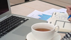 Writing Business Stuff in Note Pad Stock Footage