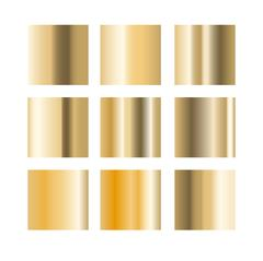 Gold gradient palette swatches vector Stock Illustration