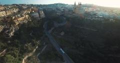 Beautiful aerial shot over Mellieha Stock Footage