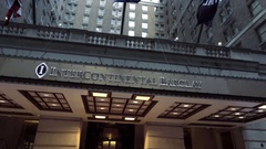 InterContinental Barclay Hotel driving past in Midtown Manhattan NYC Stock Footage
