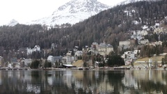 St Moritz in Switzerland Stock Footage