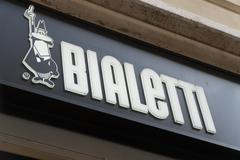 Rome, Italy - December 22, 2016: Bialetti front store Stock Photos