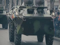 Romanian military parade 6 Stock Footage