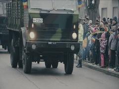 Romanian military parade 11 Stock Footage