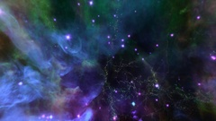 Flying through star fields in outer space - Space Travel 2188 HD Stock Video Stock Footage