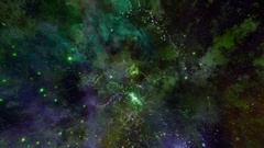 Space Travel travel through star fields in outer space - Space Travel 2190 HD Stock Footage
