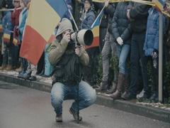 Romanian photographer Stock Footage