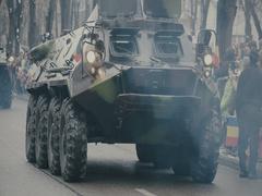 Romanian military parade 5 Stock Footage