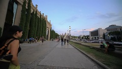 Singing fountains, Barcelona Stock Footage