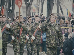 Romanian military march 1 Stock Footage