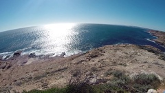 Steep red sea cliffs of Kalbarri NP in Australia Stock Footage
