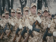 Romanian military march 4 Stock Footage