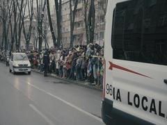 Romanian police parade 6 Stock Footage