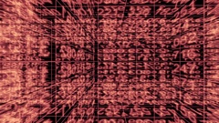 Traveling through a maze of digital data - Data Storm 0587 HD Stock Video Stock Footage