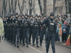 Romanian military march 6 Stock Footage