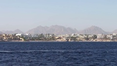 Picturesque trip along the coastline and hotels in Red Sea Stock Footage