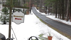 General Store sign for Generic Entrance - Establishing Shot Stock Footage