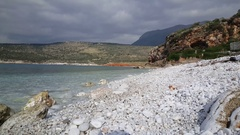 Beach with white stones Stock Footage