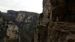 The Monastery of Saint Paraskevi an abandoned monastery Stock Footage