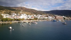 Lavrio a town in southeastern part of Attica Greece Stock Footage
