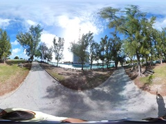 360vr Haulover Park and inlet Stock Footage