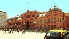 Casa Rosada in Buenos Aires. Stock Footage