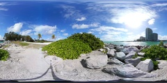 360vr video scenic Haulover inlet and beach access Stock Footage