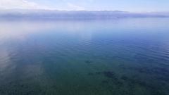 Quiet Lake Ohrid in Macedonia Stock Footage