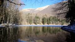 Lake in Biogradska Gora Stock Footage
