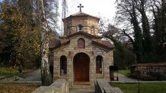 Crkva Sv Bogorodica i Sv Petka in Saint Naum Stock Footage