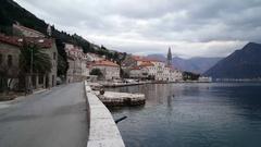 Village Perast in Montenegro Stock Footage