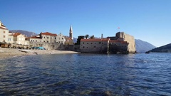 The old town of Budva Stock Footage