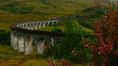 Jacobite Steam Train in Scotland Stock Footage