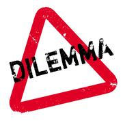 Dilemma rubber stamp Piirros