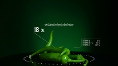 Infographic of Chili Pepper Green with vitamins, microelements minerals. Energy Stock Footage