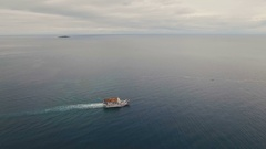 Aerial view of passenger ferry boat. Philippines Stock Footage