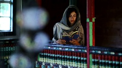 Reading Quran In Mosque Stock Footage