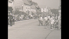 Vintage 16mm film, 1943 parade begins 4 July, patriotic Stock Footage