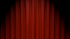 Red Stage Curtain Revealing Green Screen Stock Footage