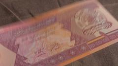 Afghan afghani  afghanistan money 2 Stock Footage