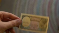 Egyptian pound currency money Stock Footage