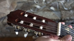 Holding fret guitar hold Stock Footage