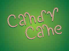Candy Cane Words Stock Illustration