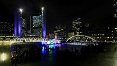 Toronto City Skating Time Lapse Stock Footage
