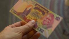Zambia money kwacha currency fiat Stock Footage