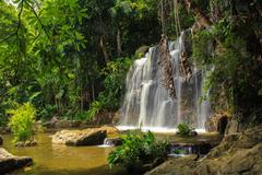 Waterfall in nature Kuvituskuvat