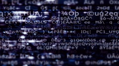 A streaming data screen of computer code, text and numbers - HD Stock Video Stock Footage