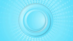 Cyan blue circles and halftone beams video animation Stock Footage
